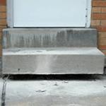 Sunken Concrete Next to Foundation